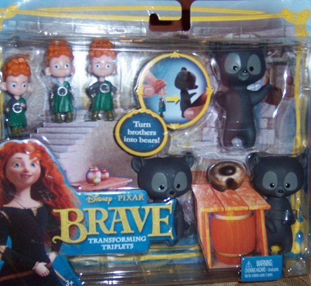 Primary image for Disney Pixar Brave Transforming Triplets Bear Playset Brothers NEW