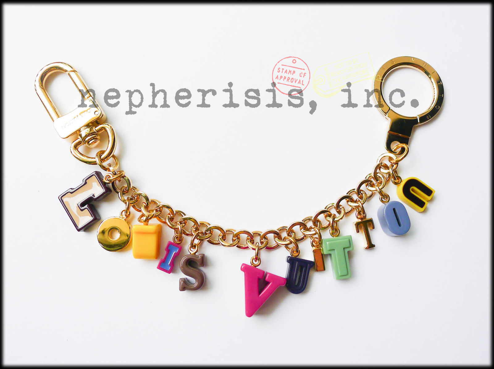 Primary image for AUTH NIB Louis Vuitton PLAYTIME Alphabet Bag Charm Key Ring or Bracelet