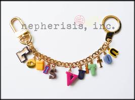 AUTH NIB Louis Vuitton PLAYTIME Alphabet Bag Charm Key Ring or Bracelet - $975.00