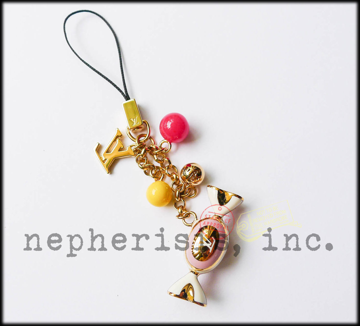 AUTH NWB Louis Vuitton DELICE CANDY Sweet Charm Phone Strap or Bag Charm