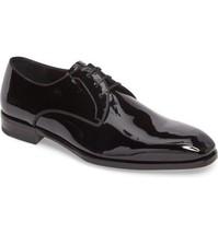 NEW Salvatore Ferragamo Charles Plain Toe Derby Shoes (Size 9 EE) - MSRP $675.00 - $349.95