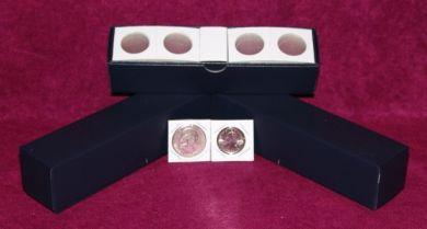 "1½"" x 1½"" Cardboard Dime Coin Flips w/Blue storage boxes. (100 per box)"