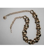 "Vintage Gold Tone Clam Shell 18"" Necklace J311 - $32.00"