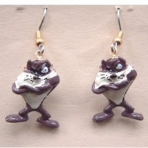 Funky TAZ TASMANIAN DEVIL FIGURE EARRINGS-Vintage Looney Tunes Costume J... - $8.05