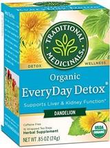 Traditional Medicinals Organic Dandelion Everyday Detox Tea, 16 bags Pac... - $23.29