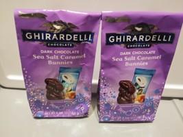 Ghirardell Lot 2 Limited Edition Dark Chocolate Sea Salt Caramel Bunnies 4.1oz - $12.86