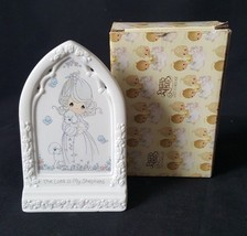 "Precious Moments 5"" ""Bible Blessings""Girl With Lambs Plaque 255866 Enesco 1993 - $9.49"
