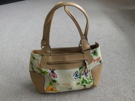 Liz Claiborne Butterfly Satchel Handbag Purse Tote Shoulder Bag - $24.99