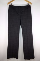 Ann Taylor LOFT Women's Gray Plaid Marisa Trouser Pants Size 2 Career Work - $11.27