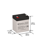 12V 5AH T2 Battery Replacement for Mighty Max ML5-12 T2 by SigmasTek - $16.49