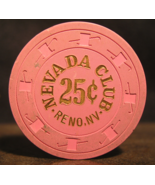 "$0.25 Casino Chip From: ""The Nevada Club""- (sku#3111) - $6.99"