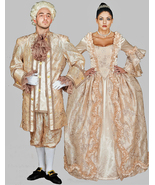 QUALITY 17TH CENTURY KING LOUIS XVI MEN'S COSTUME PEACH AND GOLD  2XL - $599.95