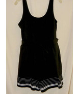 Black w/White One Piece Vintage  Bathing Beauty Suit-18 Tall - $10.00