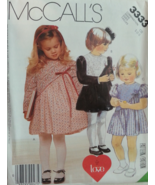 McCall's 3333  Toddler's Dress with Asymmetrical Yoke  Size CB (1-2-3) - $6.99