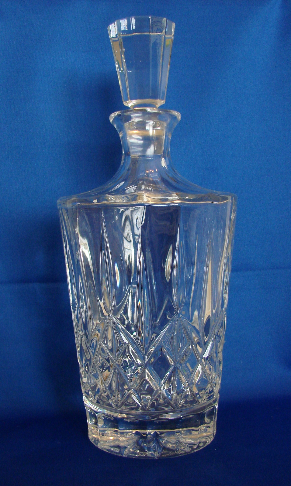 Beautiful Mikasa Crystal Square Decanter with Stopper image 1