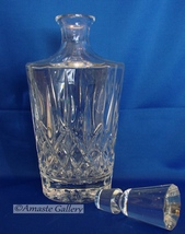 Beautiful Mikasa Crystal Square Decanter with Stopper image 4