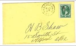 c1870 Milledgeville, GA Vintage Postal Cover - $7.99