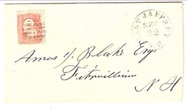 c1861 East Jaffrey NH Discontinued/Defunct Post Office (DPO) Postal Cover - $7.99