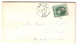 1871 Sabatus, ME Vintage Post Office Postal Cover
