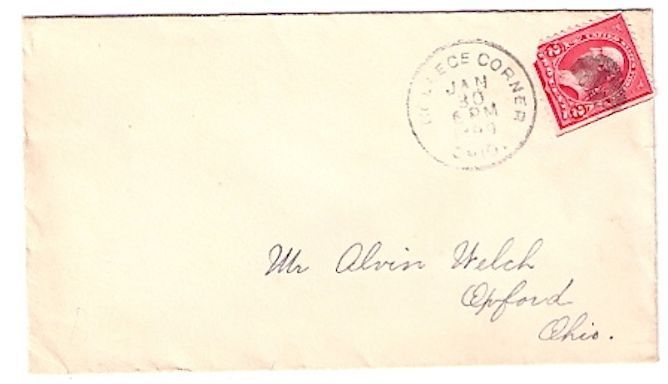 1899 College Corner, OH Vintage Post Office Postal Cover