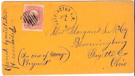 c1861 Washington Courthouse, OH Vintage Post Office Postal Cover - $7.99