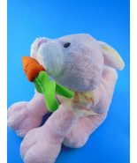 "PINK BUNNY RABBIT 8"" with carrot  SOFT LOVEY Easter by Fine Toy - $4.84"