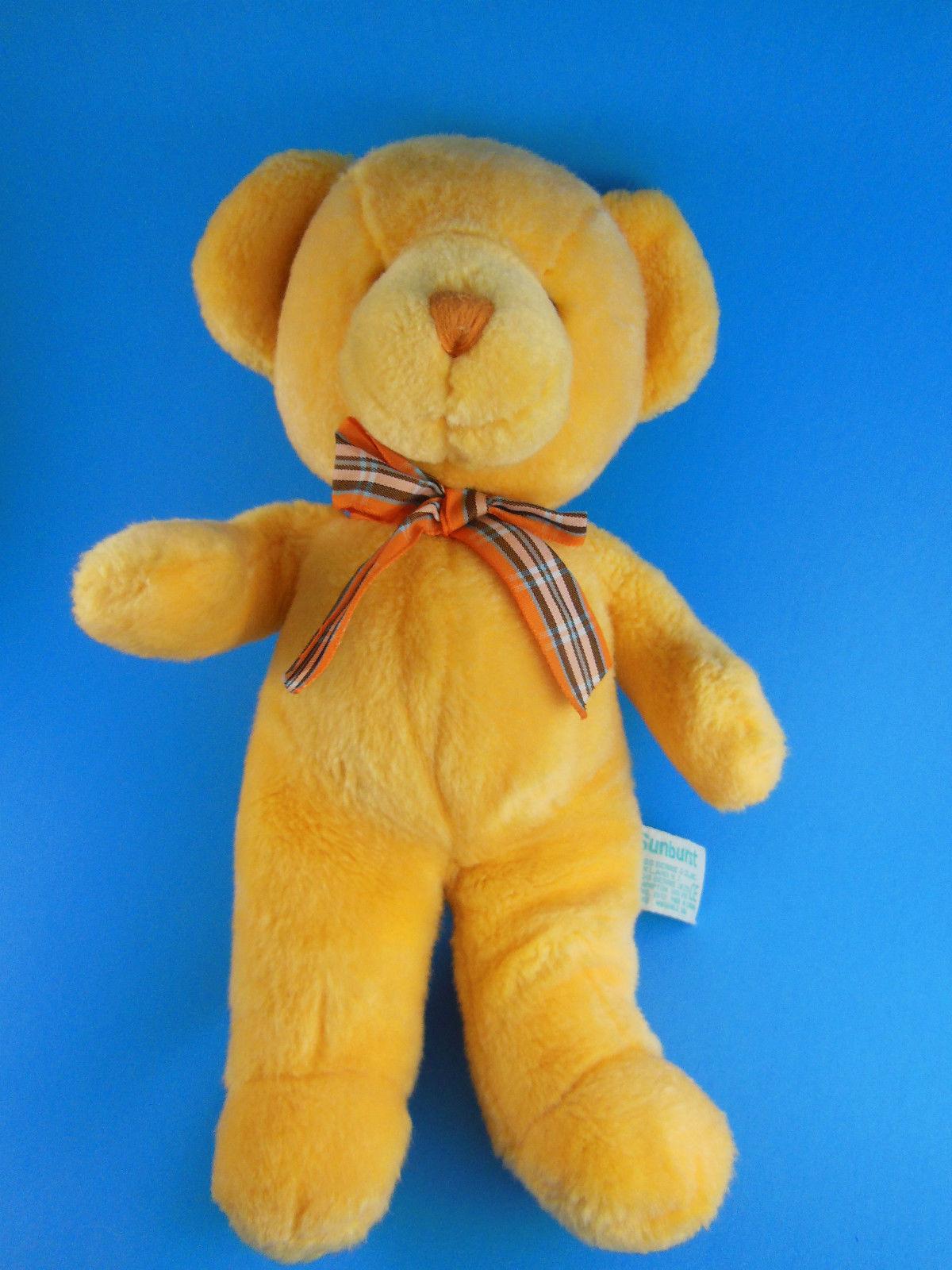 "Russ Berrie Sunburst Teddy Bear with Rattle 12"" - $17.32"