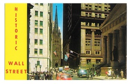 NY Historic Wall Street Federal Hall Memorial Museum Stock Exchange Post... - $4.99