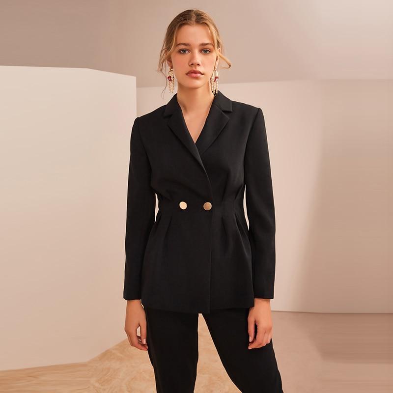 Omen suits office sets stylish ladies business formal work wear ol 2 piece notched blazer jacket