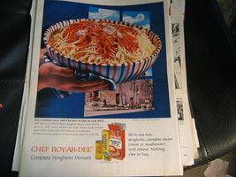 1959 Chef Boy-Ar-Dee Spaghetti Dinner Ad - $6.35