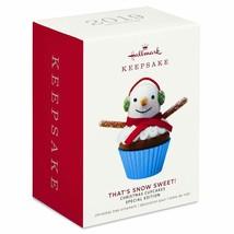 Hallmark Keepsake 2019 That's Snow Sweet Cupcake Limited Ornament New w Box - $22.02