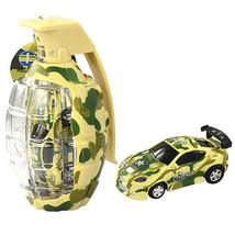 "2.7"" Army Camouflage Mini Grenade RC Car Remote... - $13.37"