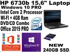 """HP 6730b 15.6""""Windows 10 Laptop✔️ New 240GB SSD/✔️ WI-FI + Office 2019 PRO✔️ - $288.99"""