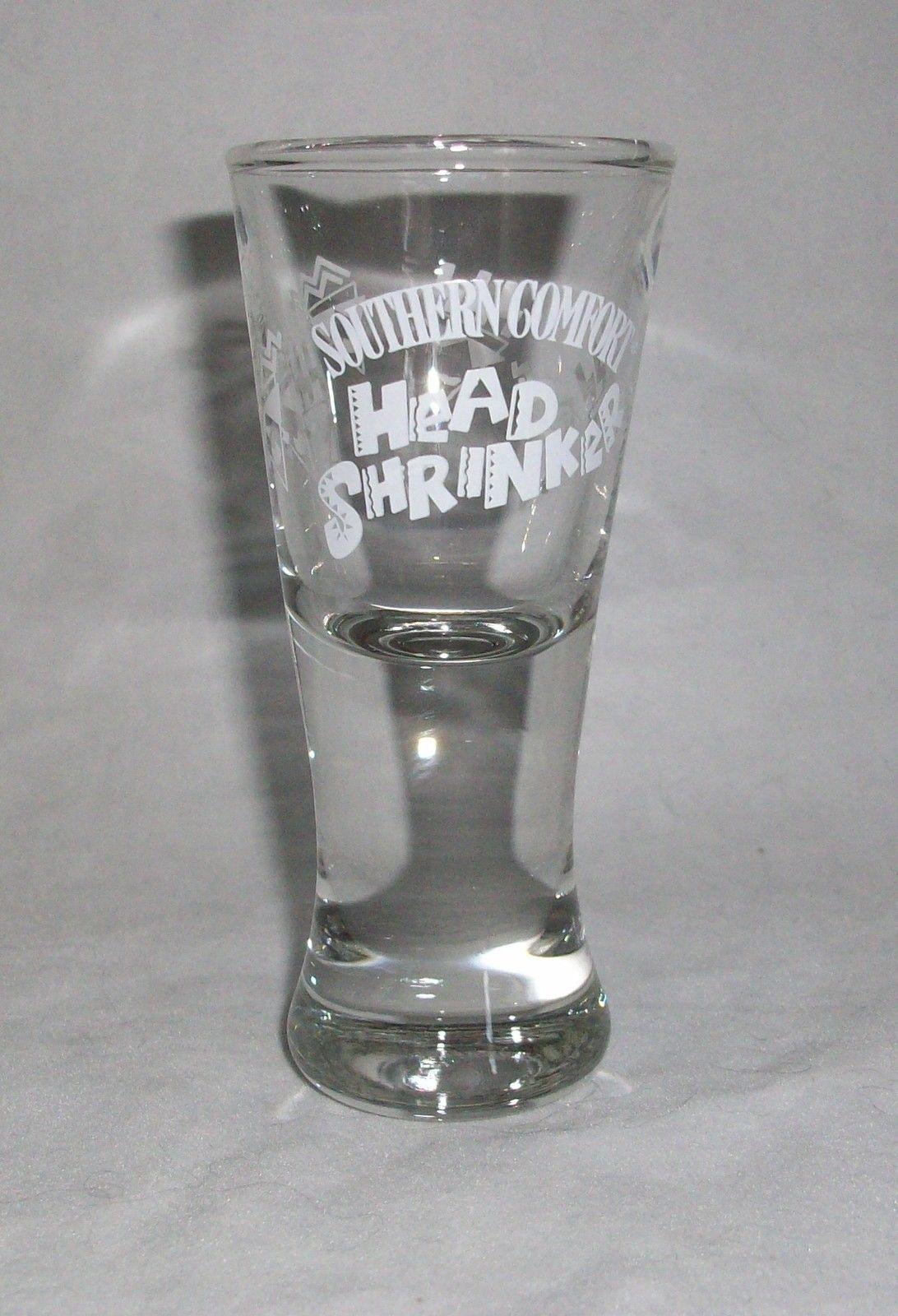 Shot Glass Southern Comfort Head Shrinker Liquor Bar Shooter Fluted 2 oz Unique - $11.87