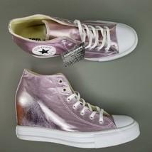 Converse CTAS Lux Mid Hidden Heel Wedge Shoes SZ 10 Womens Sneakers Fuschia - $93.49