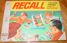RECALL FAST MOVING CHALLENGING GAME OF OBSERVATION 1968 MILTON BRADLEY C... - $20.00