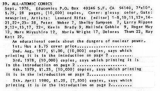 All-Atomic Comics 1976, 1st print, Underground Comix,Leonard Rifas, Larry R