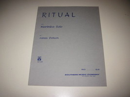 Ritual Marimba Solo James Dotson Southern Music 1977 Sheet Music - $8.42