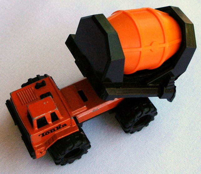 Tonka Cement Mixer 1992 Truck Metal Body Plastic Barrel Attachment Vintage Toy