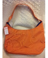 Lean Cusine Lunch Tote Orange Scrolled Embroidery w tags - $23.88