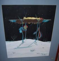 "DAVID WILLIAMS TOS-QUE Original Tempera Painting ""BURIAL AT NIGHT"" Art '... - $2,594.99"