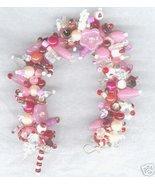 Loaded Fringe Charm Bracelet Pinks Reds Whites Crystal - €46,68 EUR