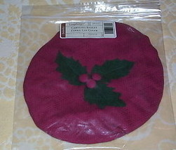 Longaberger Caroling Basket Fabric  Lid COVER ~Paprica - $12.68