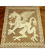 The White Dragon - Fantasy Art Filet Crochet Image Decor by RSS Designs ... - $43.00