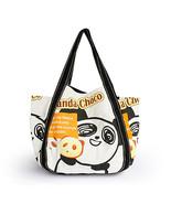 [Panda Choco] Canvas Shoulder Tote Bag - $37.99