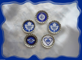 Toronto Maple Leaf  Set of 5 Bottlecaps For Scrapping - $4.00