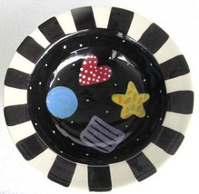 Handmade and Hand-Painted Colored Design Serving Ceramic Bowl/Dish  by Lynn Morr - $19.99
