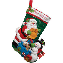 "Bucilla Felt Stocking Applique Kit 18"" Long-Santa' List - $29.46"