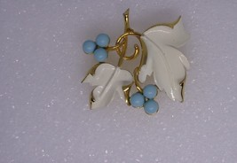Vintage Sarah Coventry Placid Beauty Goldtone Enamel faux Turquoise Bead... - $14.00