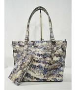 NWT SET Brahmin Medium Misha Tote/Shoulder Bag + Ady Wallet in Stratus M... - $389.00